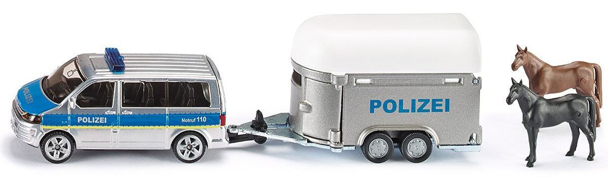 Siku Полицейская машина с прицепом для лошадей для автомобиля из алиэкспресс