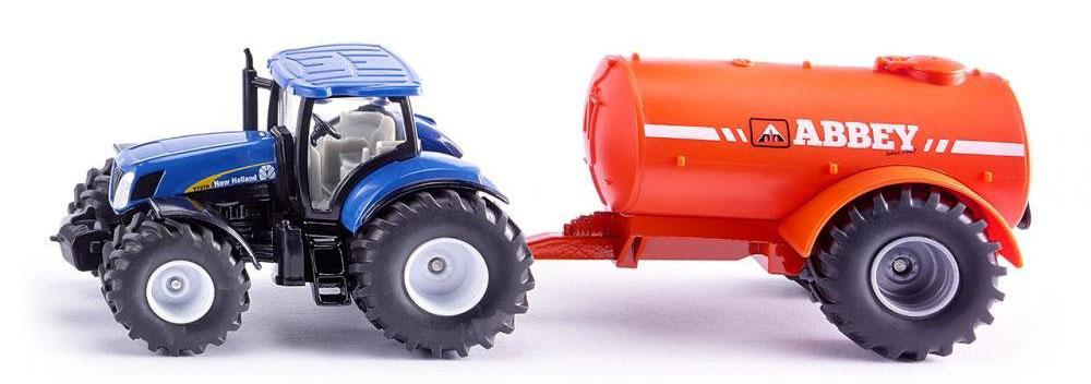 Siku Трактор New Holland T7070 с цистерной Abbey siku трактор new holland t7070 с опрыскивателем kverneland