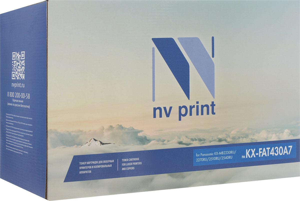 Тонер-картридж NV Print KX-FAT430A7, черный, для лазерного принтера, совместимый