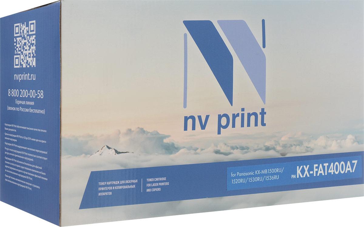 Тонер-картридж NV Print KX-FAT400A7, черный, для лазерного принтера, совместимый