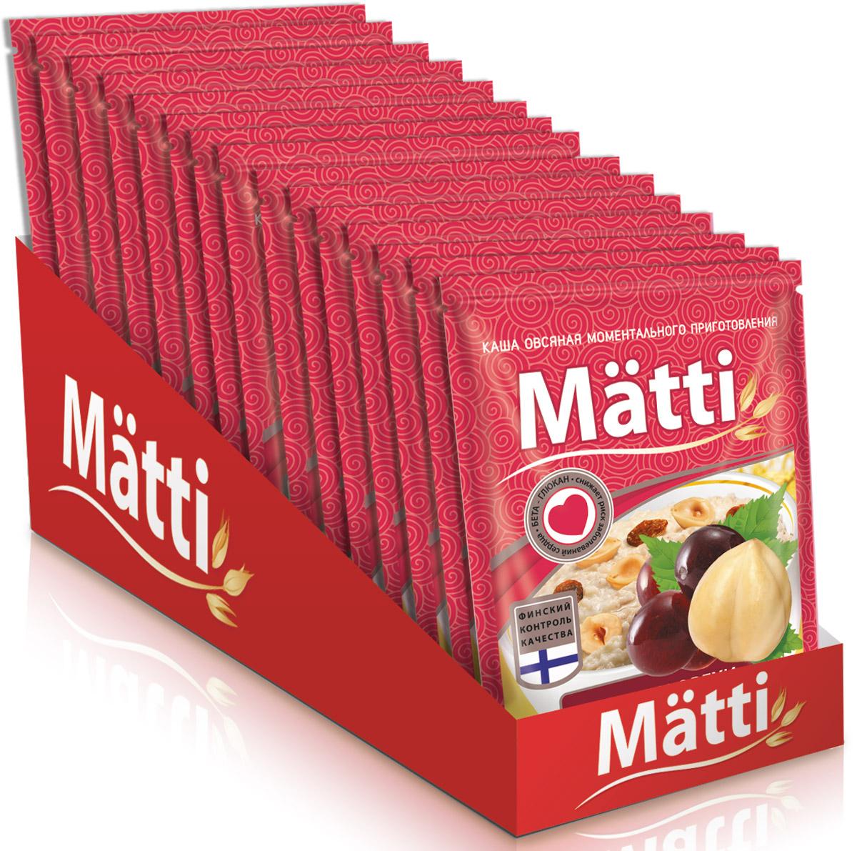 Matti каша с изюмом и орехами, 15 шт по 40 г