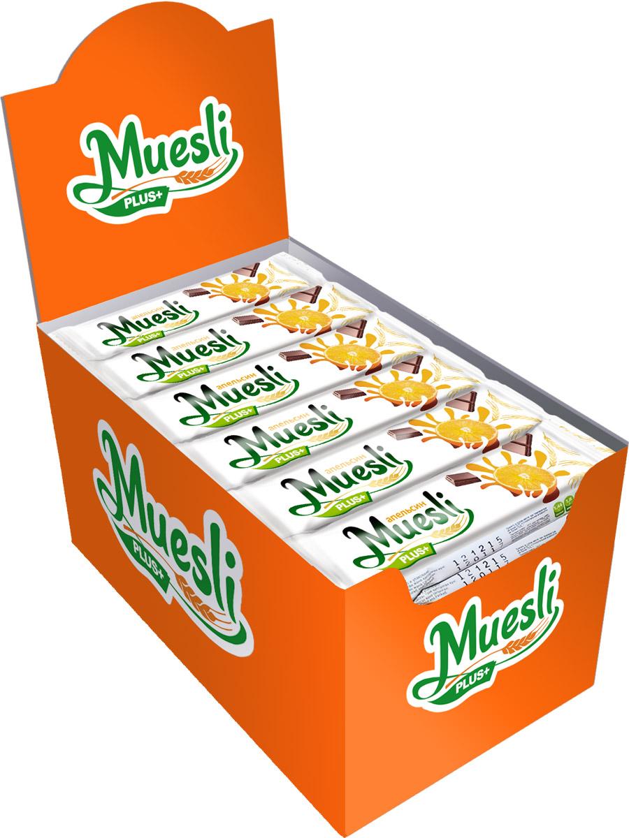 Matti Muesli Plus батончик мюсли апельсин, 36 шт по 24 г цена в Москве и Питере