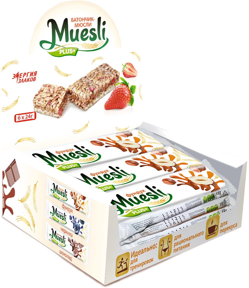Matti Muesli Plus батончик мюсли ореховый микс, 6 шт по 24 г цена в Москве и Питере