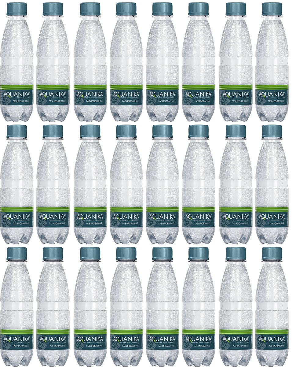 Акваника вода газированная, 24 шт по 0,25 л акваника вода негазированная 5 л