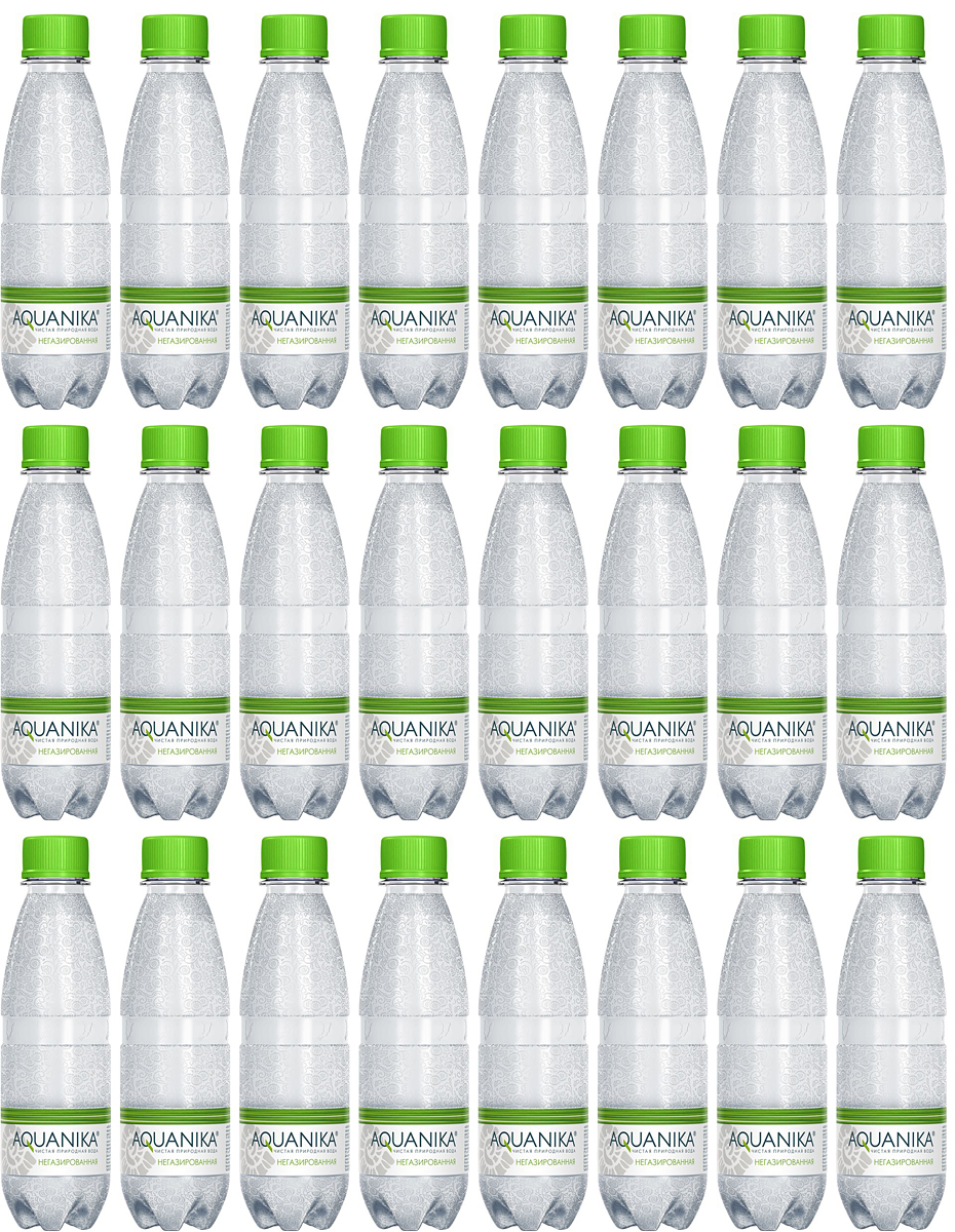 Акваника вода негазированная, 24 шт по 0,25 л