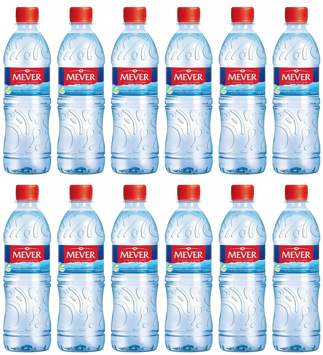 Мевер вода негазированная, 12 шт по 0,5 л