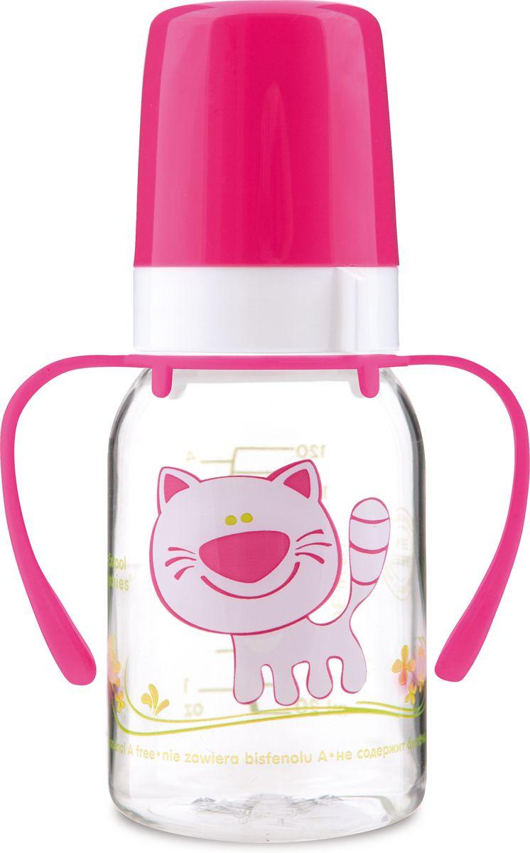 Фото - Canpol Babies Бутылочка Котенок с силиконовой соской от 3 месяцев цвет розовый 120 мл бутылочка canpol тритановая с сил соской 120 мл 3 мес арт 11 820prz цвет зеленый