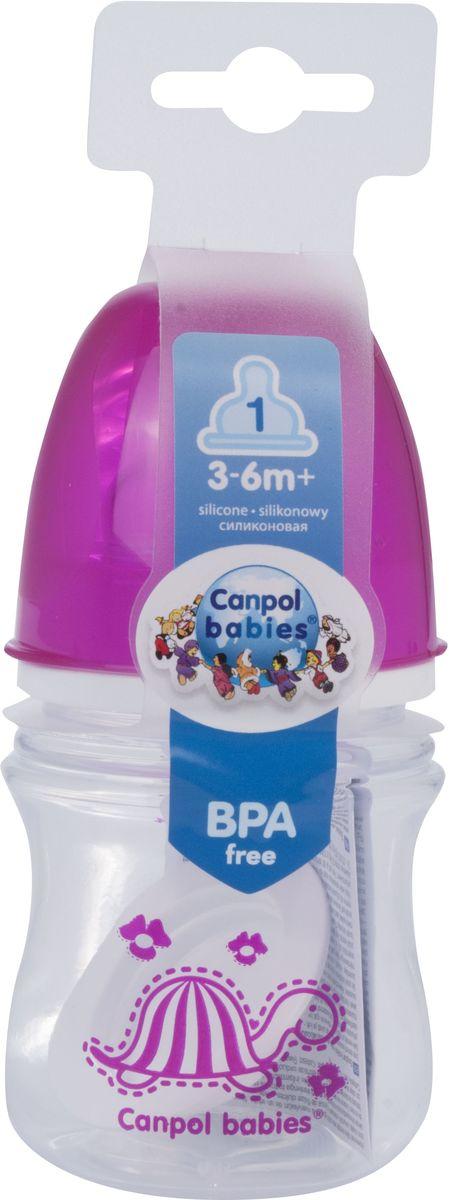 Canpol Babies Бутылочка антиколиковая Colourful Animals от 3 месяцев цвет красный 120 мл цена