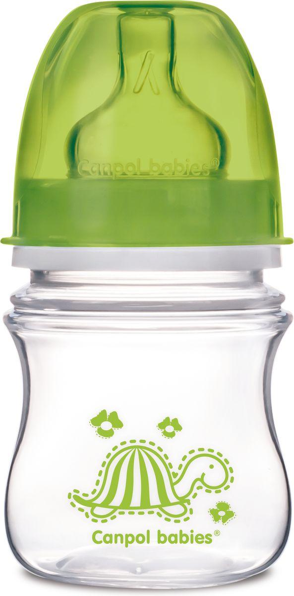 Canpol Babies Бутылочка антиколиковая Colourful Animals от 3 месяцев цвет зеленый 120 мл цена