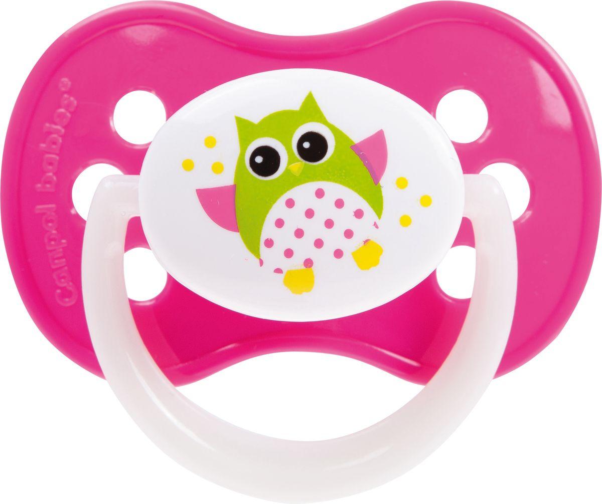 Canpol Babies Пустышка силиконовая Owl от 6 до 18 месяцев цвет розовый
