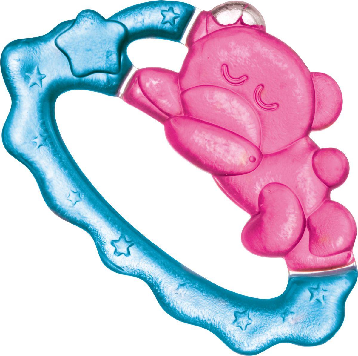 Canpol Babies Прорезыватель охлаждающий Спящий медвежонок цвет розовый прорезыватели canpol охлаждающий спящий медвежонок 2 242