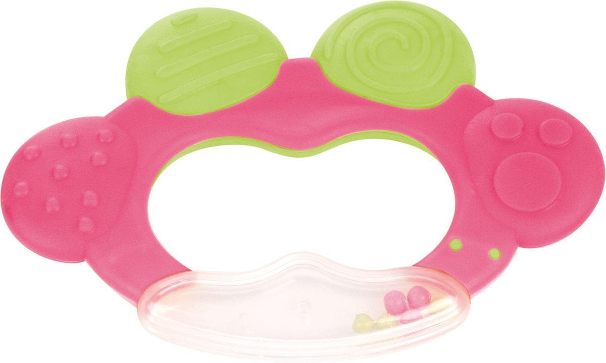 Canpol Babies Погремушка-прорезыватель Лягушка цвет розовый серебряные ложка и погремушка лягушка ри77нб05801
