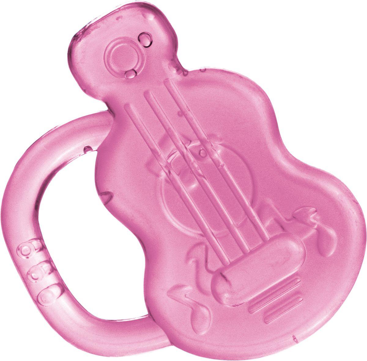 Canpol Babies Прорезыватель охлаждающий Гитара цвет розовый прорезыватели canpol охлаждающий спящий медвежонок 2 242