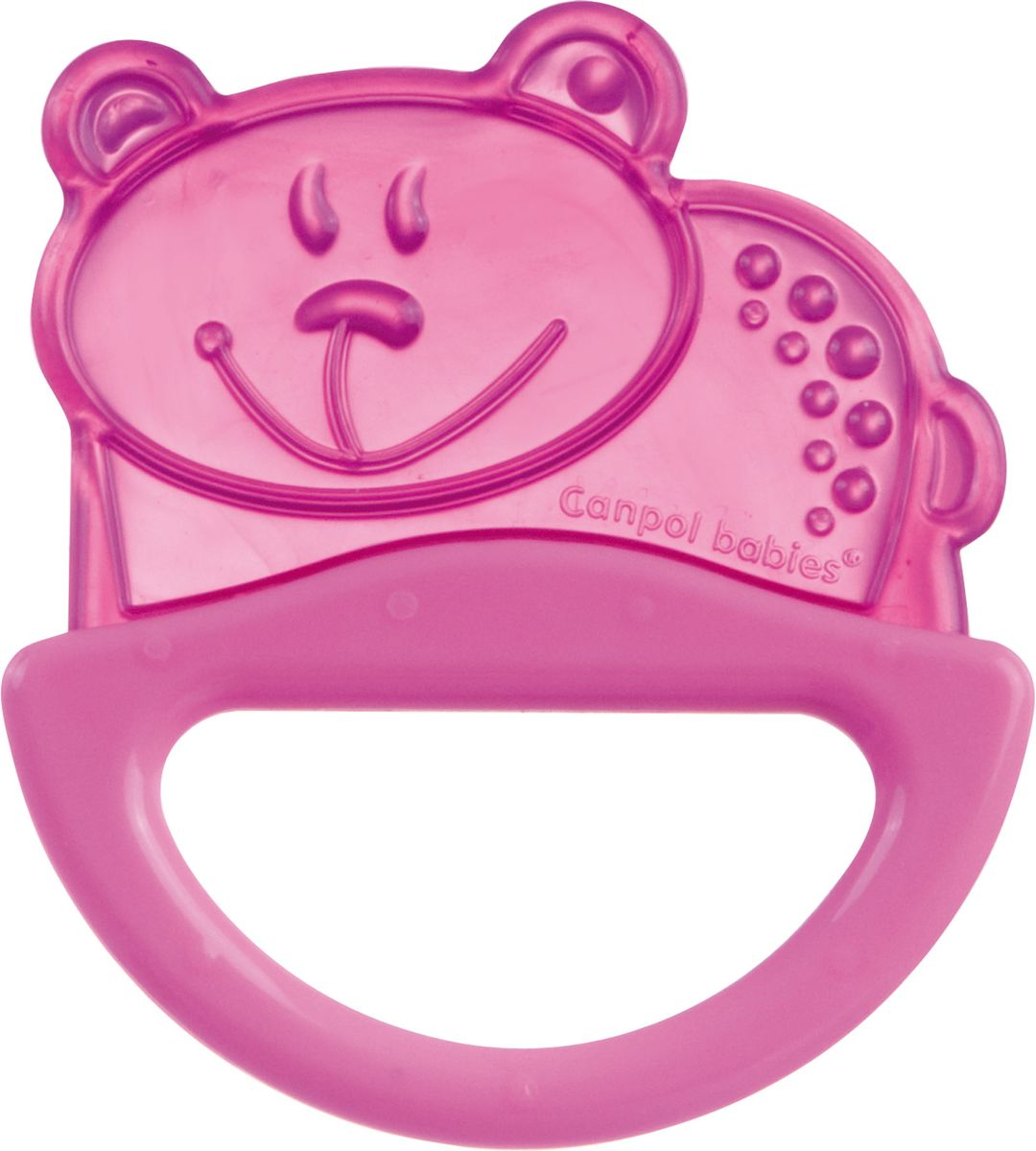 Фото - Canpol Babies Погремушка-прорезыватель Мишка цвет розовый погремушка с эластичным прорезывателем canpol арт 13 107 0 мес цвет голубой форма мишка