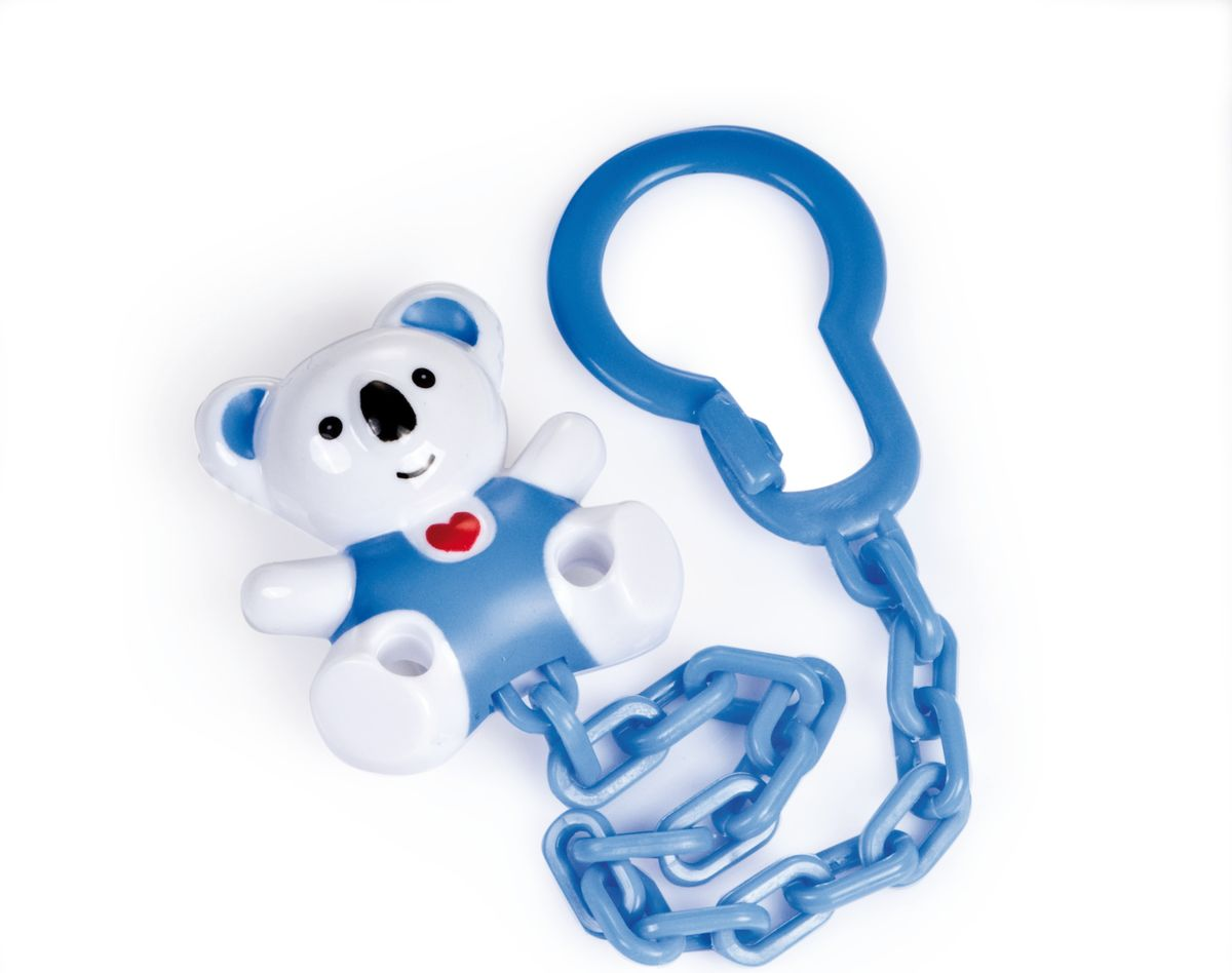 Canpol Babies Клипса-держатель для пустышки Медвежонок с сердечком цвет белый canpol babies клипса держатель для пустышки самолетик