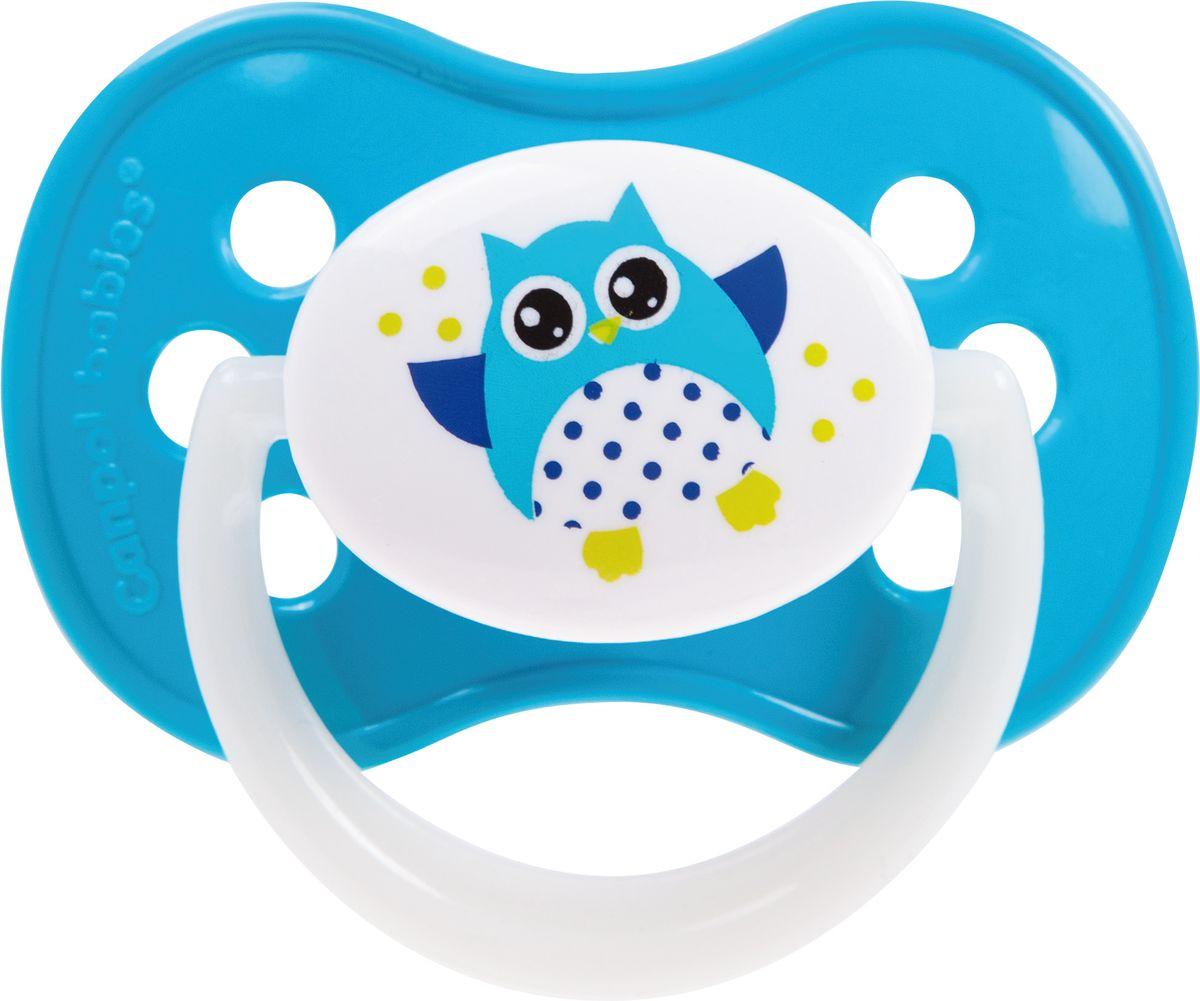 Canpol Babies Пустышка силиконовая Owl от 6 до 18 месяцев цвет голубой