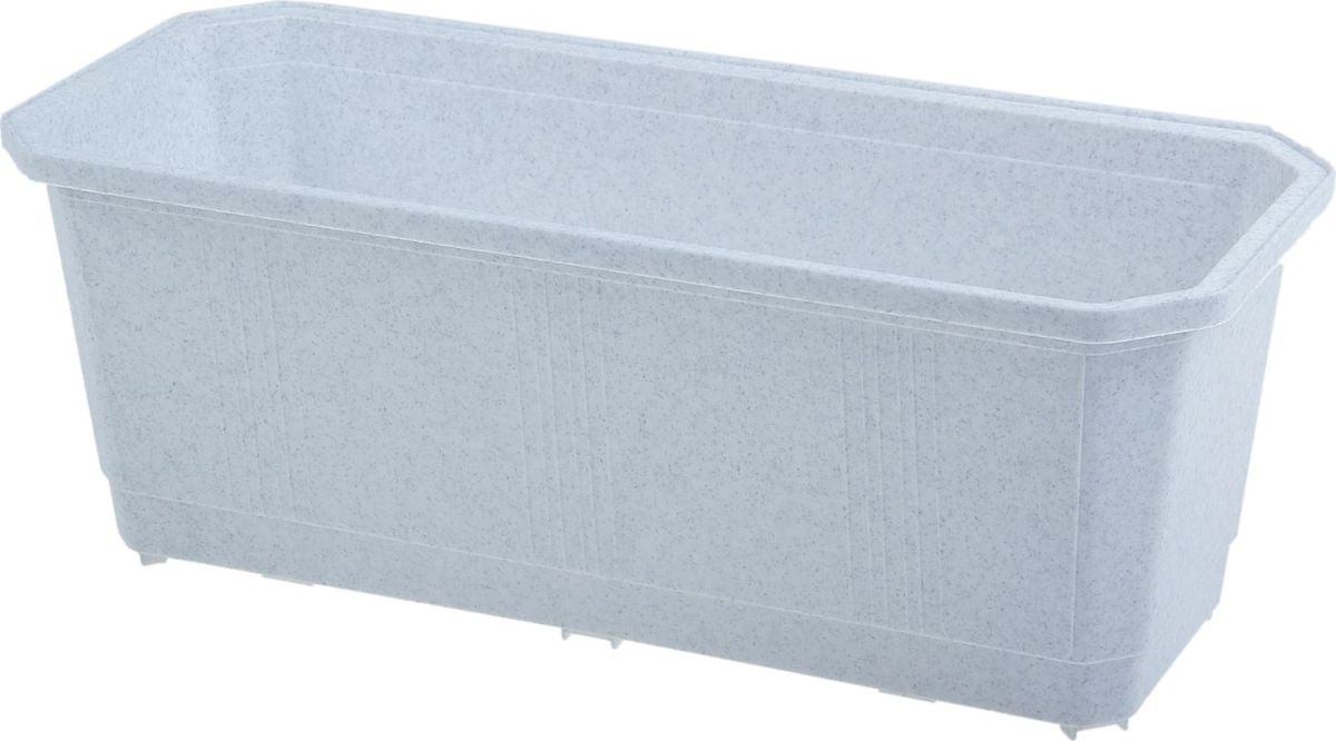 Ящик балконный InGreen, цвет: мраморный, 40 х 17 х 15 см. ING1801МР ящик балконный emsa country цвет серый 50 x 17 x 15 см