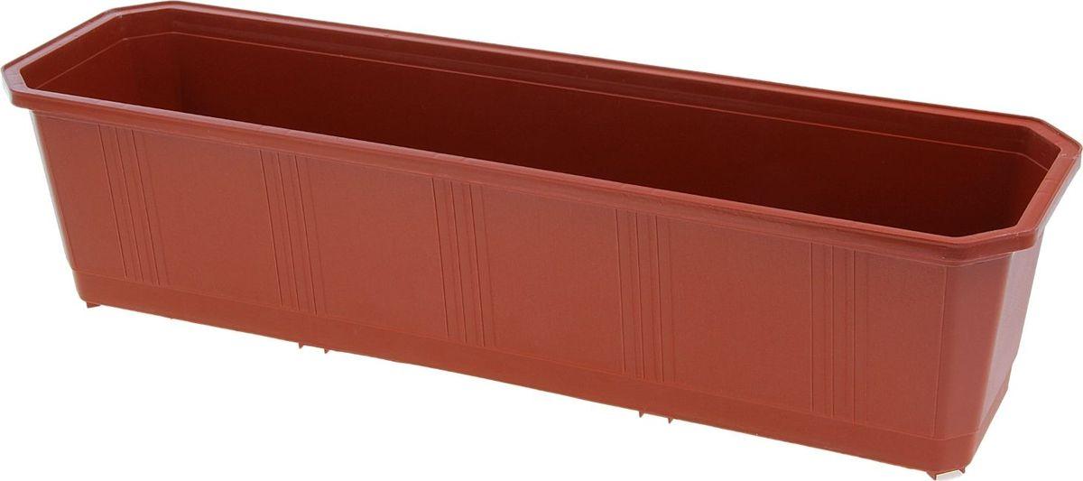 Ящик балконный InGreen, цвет: терракотовый, 60 х 17 х 15 см. ING1802ТР поддон для балконного ящика ingreen цвет белый длина 60 см