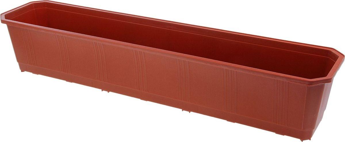 Фото - Ящик балконный InGreen, цвет: терракотовый, 80 х 17 х 15 см. ING1803ТР вазон балконный с подставкой алеана дама 100 х 18 см терракотовый