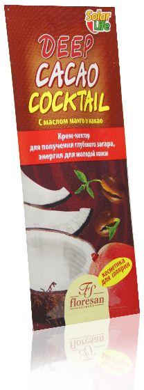 Floresan Solar Life Крем-нектар для получения глубокого загара Deep Cacao Cocktail, 15 мл california tan крем для загара в солярии biofusion optimizer step 2 189 мл