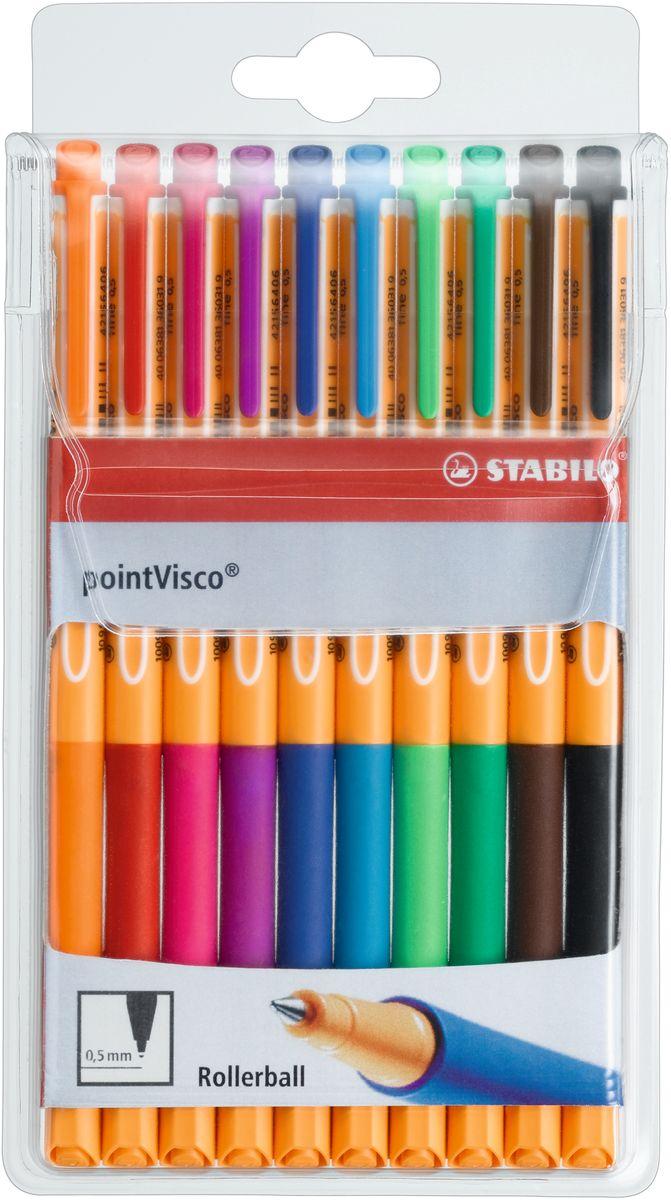 Stabilo Набор гелевых ручек Point Visco 10 цветов 1099/10 все цены