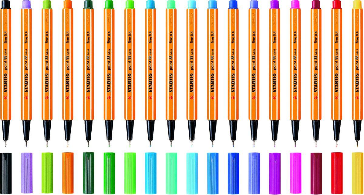 StabiloНабор капиллярных ручек Poin 88 Mini 18 цветов STABILO