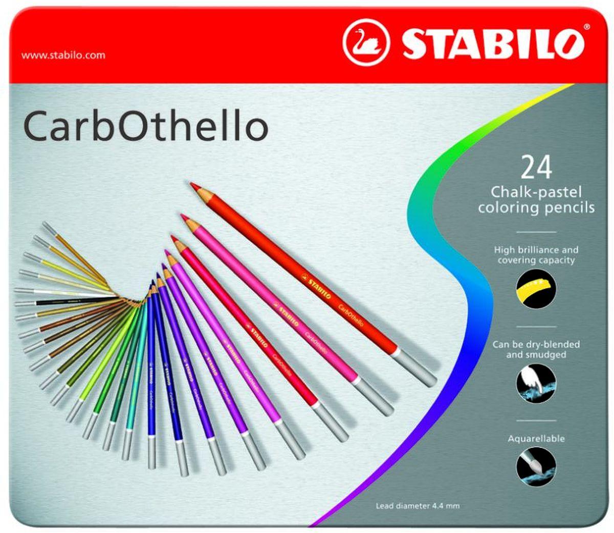 Фото - Stabilo Пастельные карандаши CarbOthello 24 цвета цветные карандаши stabilo carbothello пастель 36 цветов