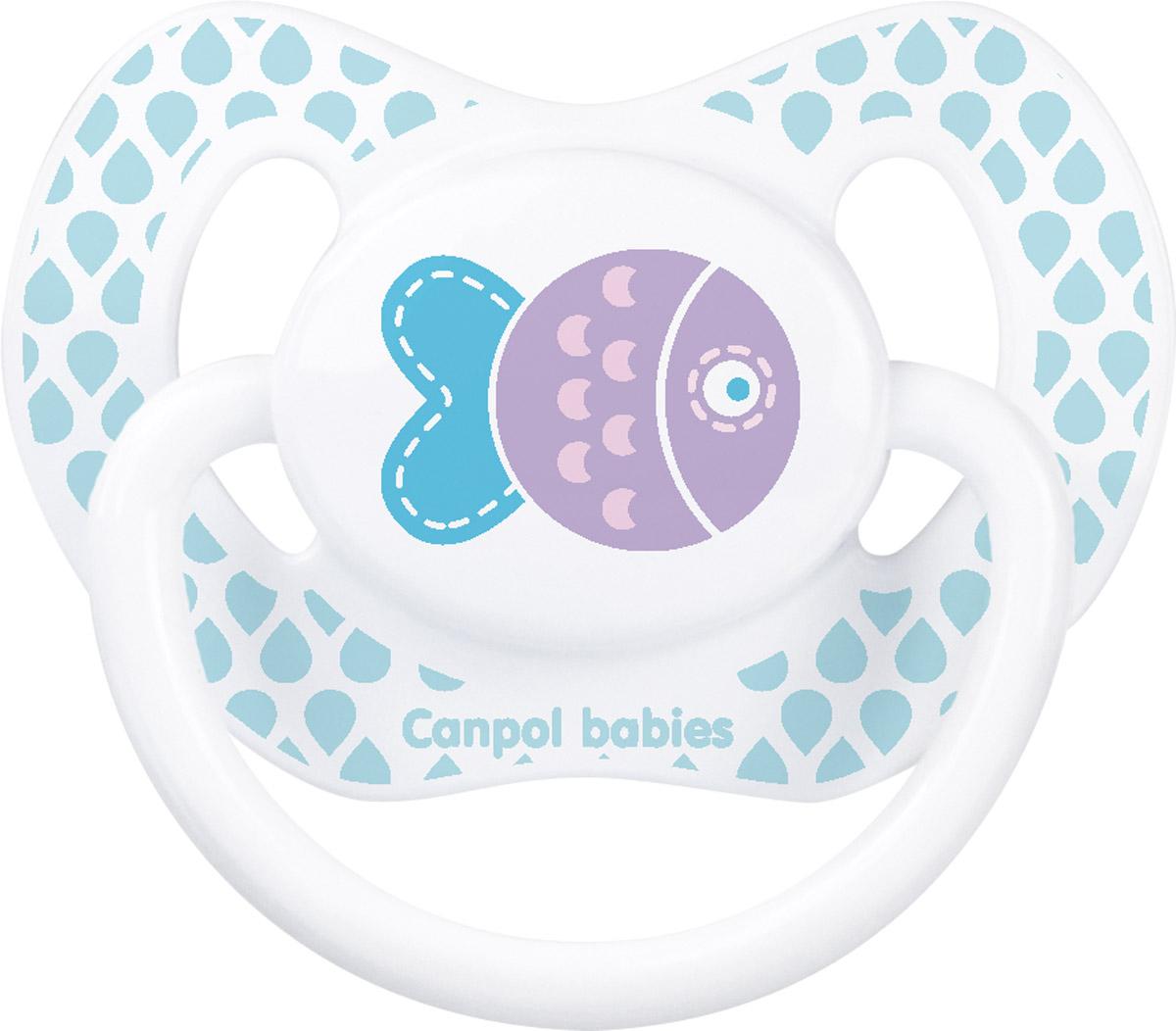 Canpol Babies Пустышка силиконовая ортодонтическая Рыбка от 0 до 6 месяцев