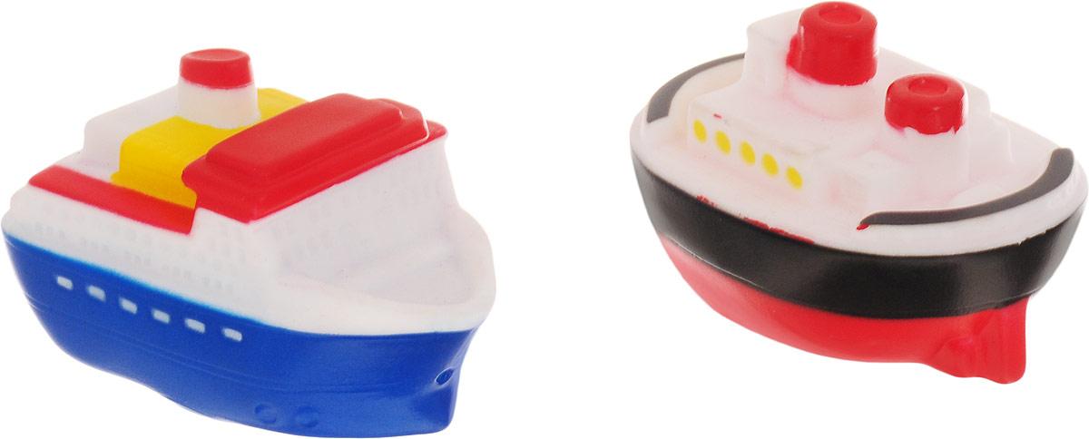ABtoys Игрушка для ванной Катер-брызгалка 2 шт игрушки для ванны hap p kid игрушка для купания брызгалка пингвиненок