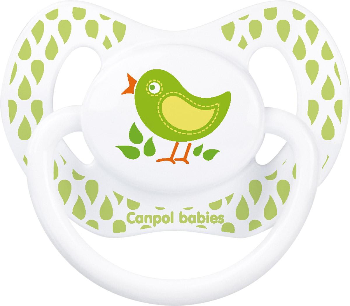 Canpol Babies Пустышка силиконовая ортодонтическая Птичка от 6 до 18 месяцев