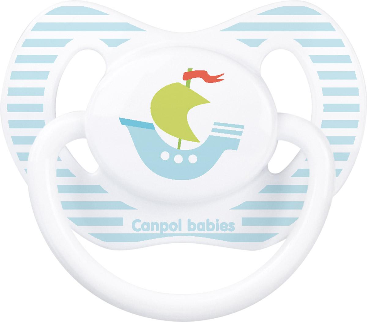 Canpol Babies Пустышка силиконовая ортодонтическая Кораблик от 6 до 18 месяцев bibi пустышка ортодонтическая дневная я люблю россию от 0 до 6 месяцев цвет сиреневый
