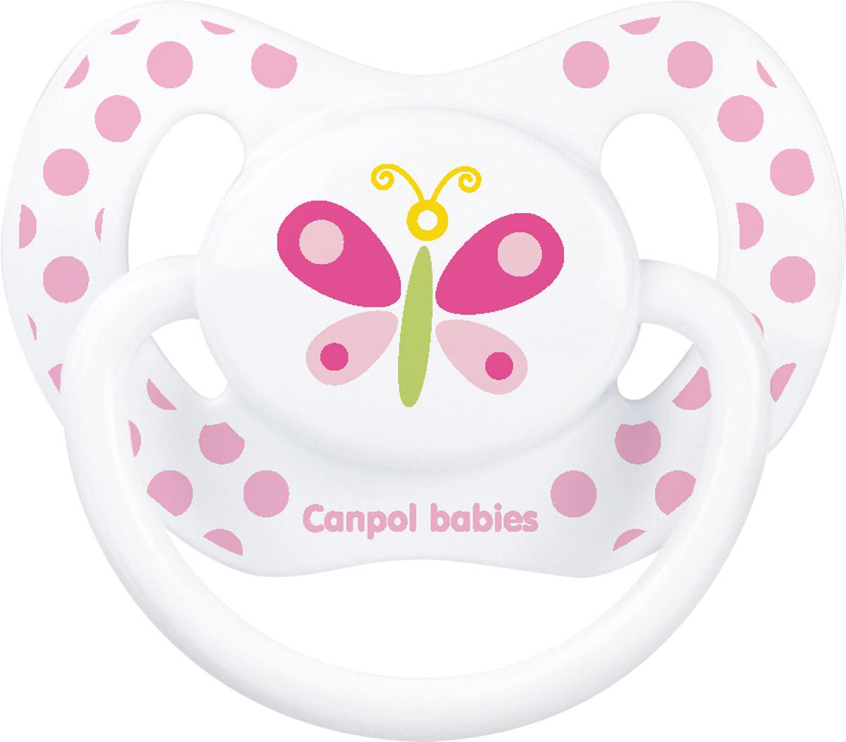 Canpol Babies Пустышка силиконовая ортодонтическая Бабочка от 6 до 18 месяцев