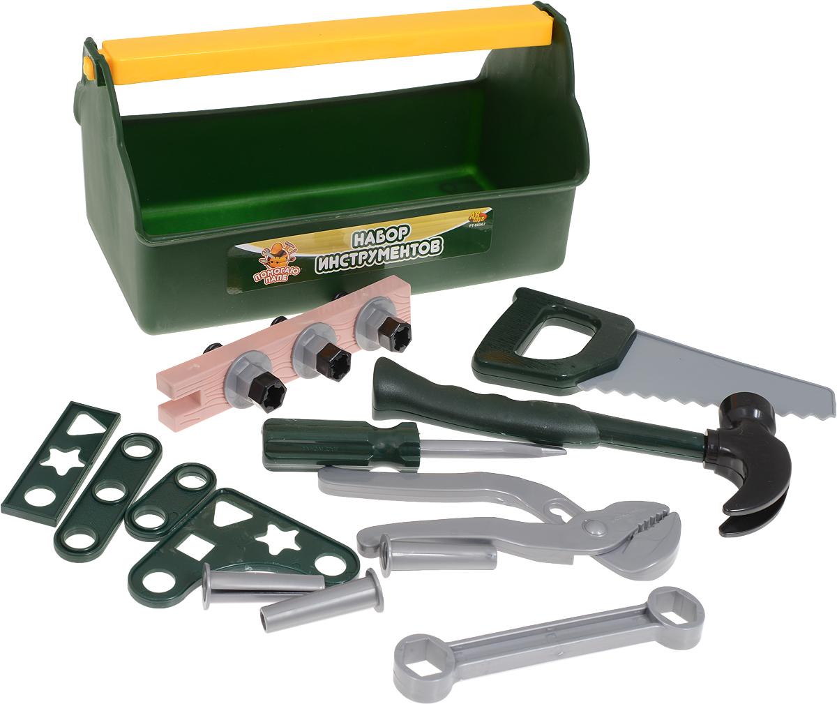ABtoys Игровой набор Инструменты в ящике 19 предметов