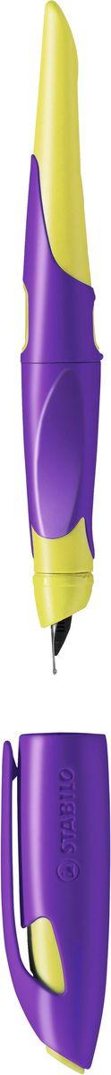 StabiloРучка перьевая Easybirdy цвет корпуса желтый фиолетовый STABILO