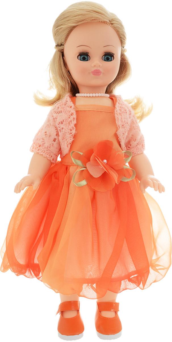 Весна Кукла озвученная Лиза цвет платья оранжевый