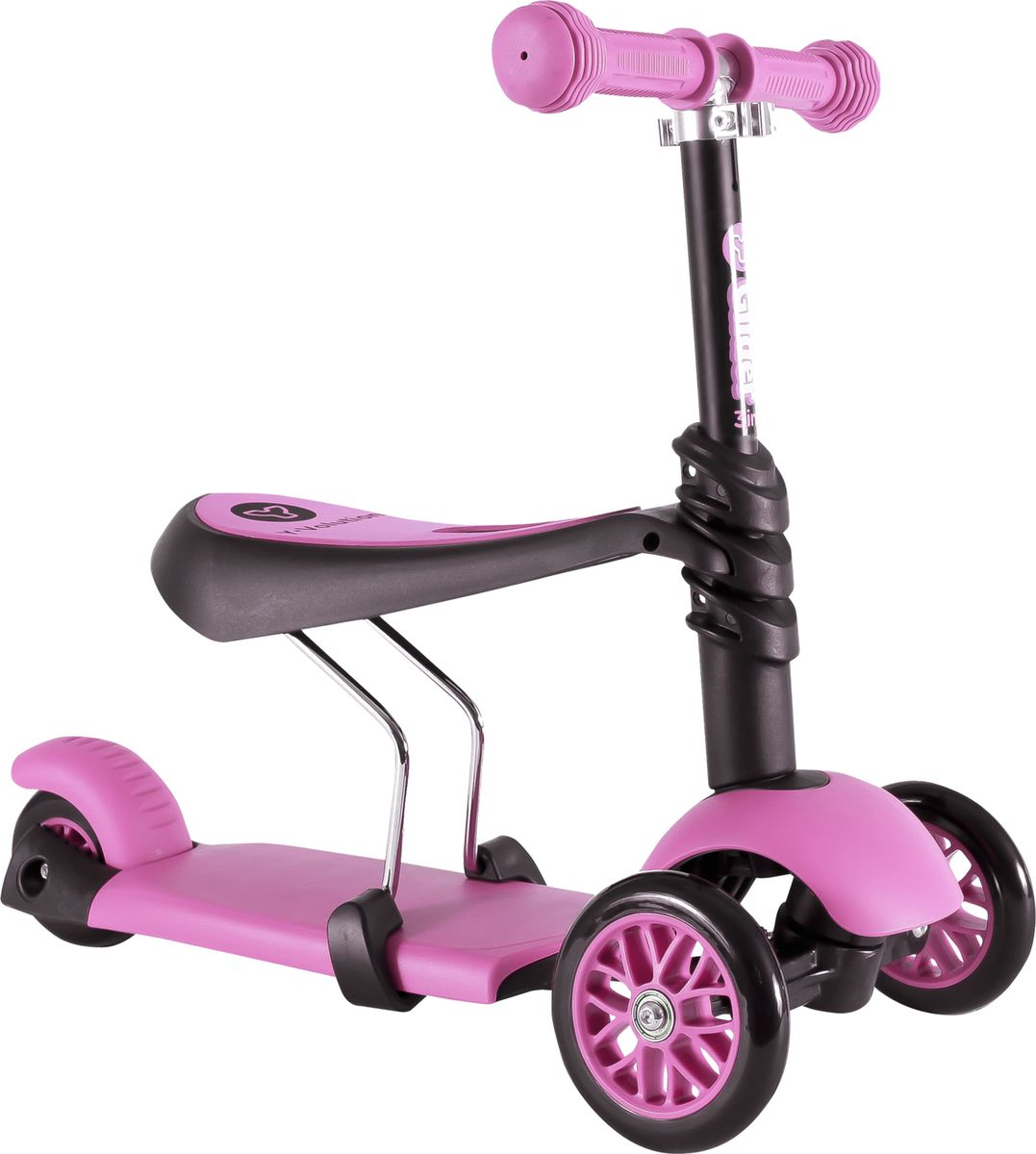 YVolution Самокат-беговел детский Glider 3 в 1 цвет розовый