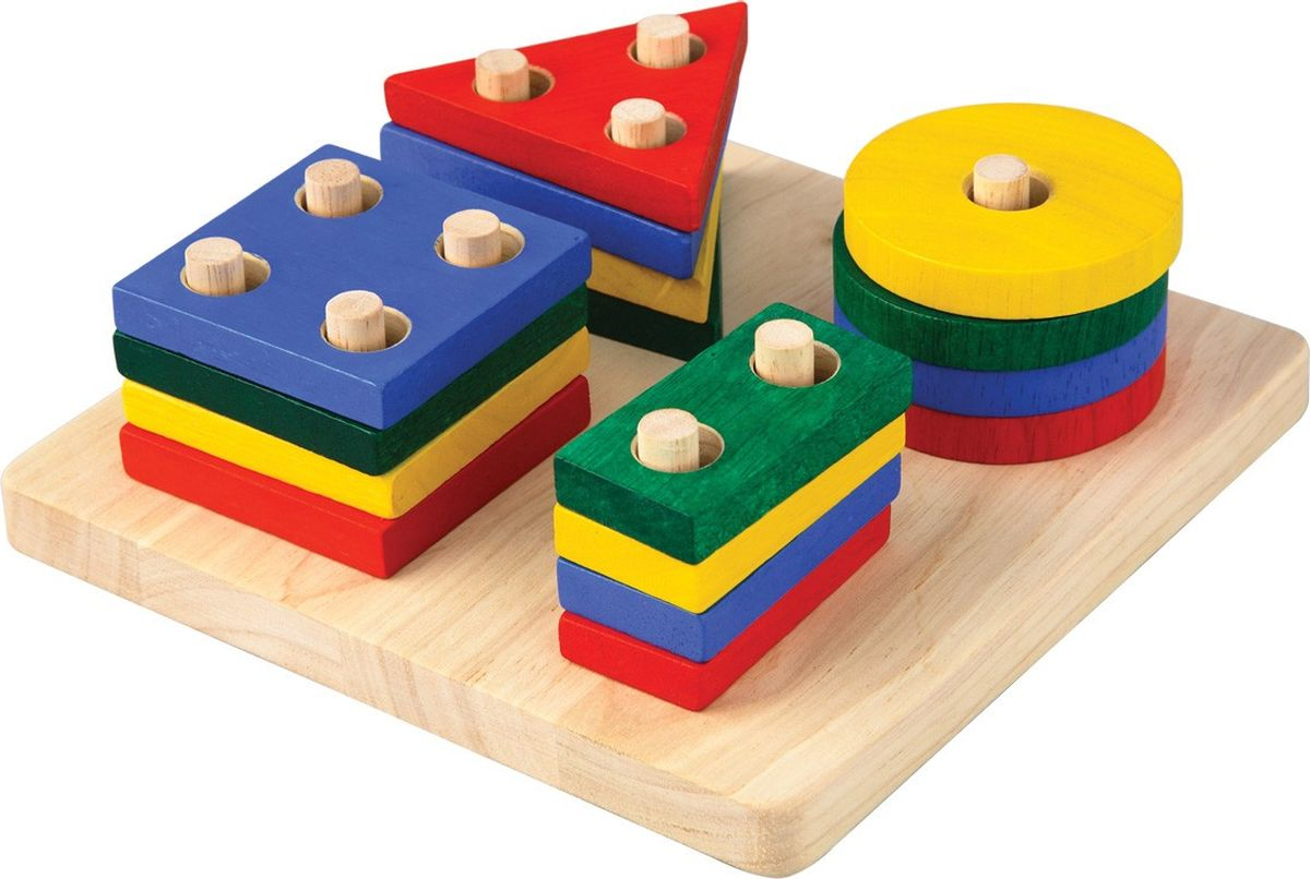 Plan Toys Сортер Доска с геометрическими фигурами