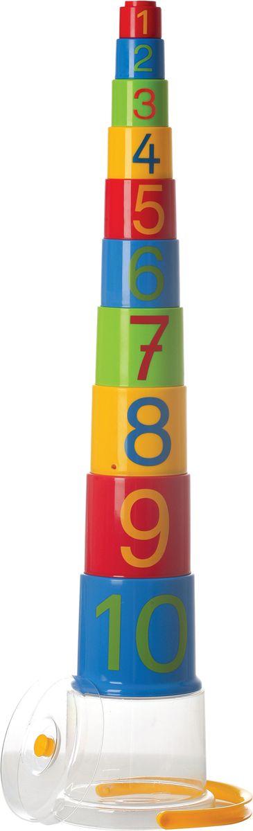 Gowi Набор игрушек для песочницы Ведерко-пирамидка Цифры 10 шт развивающие игрушки gowi ведерко пирамидка 21 предмет