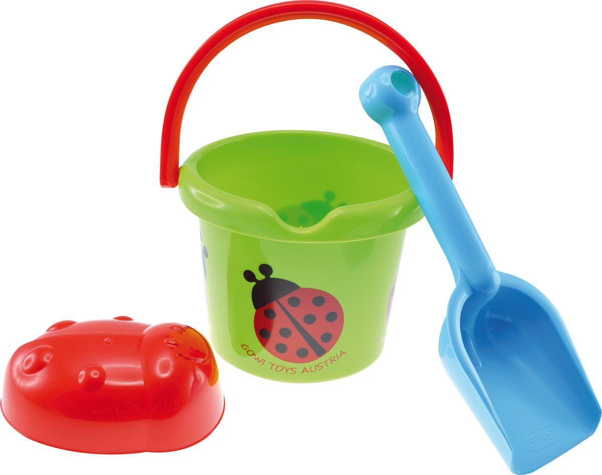 Gowi Набор игрушек для песочницы Ведерко совочек формочка, цвет в ассортименте развивающие игрушки gowi ведерко пирамидка 21 предмет