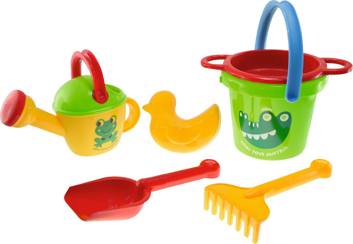 Фото - Gowi Набор игрушек для песочницы Крокодил 6 предметов gowi набор игрушек для песочницы ручки и ножки 5 предметов