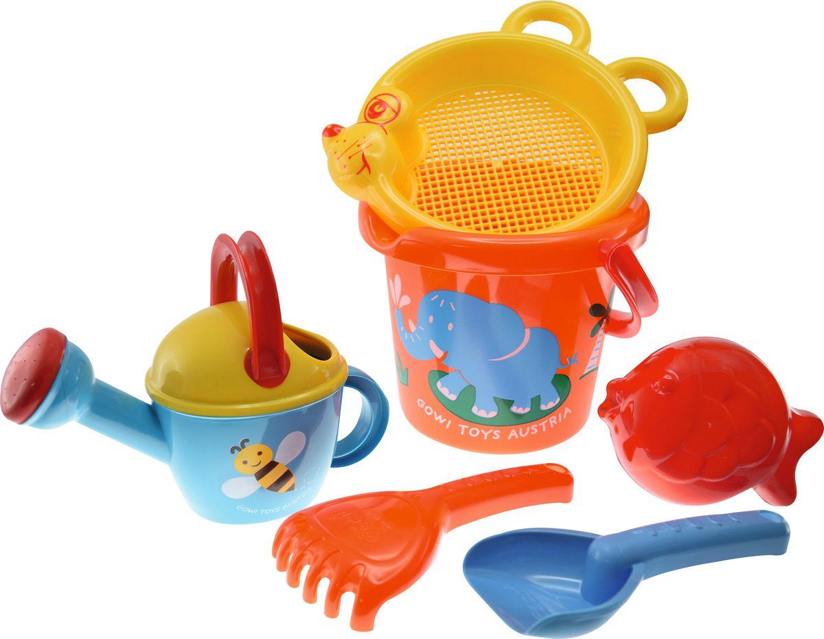 Фото - Gowi Набор игрушек для песочницы Слоненок 6 предметов gowi набор игрушек для песочницы ручки и ножки 5 предметов
