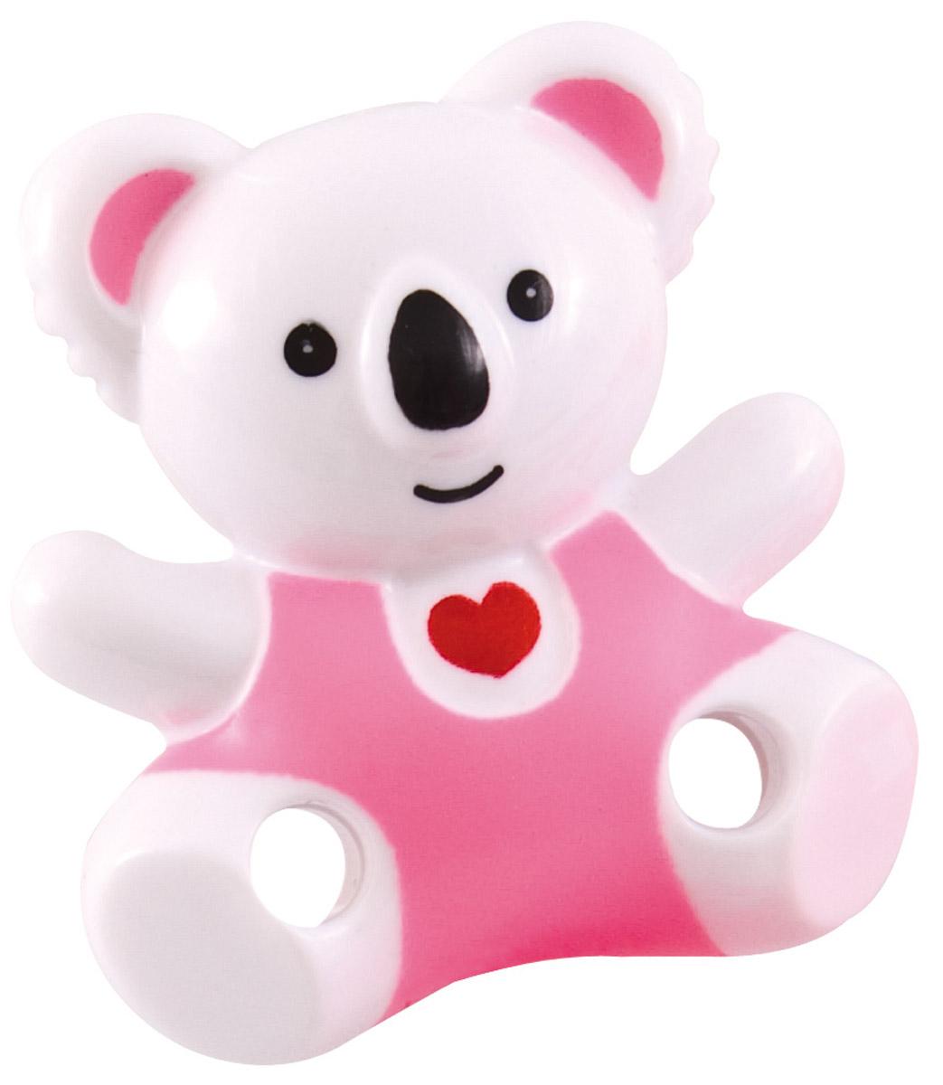 Canpol Babies Клипса-держатель для пустышки Медвежонок с сердечком цвет розовый canpol babies клипса держатель для пустышки самолетик