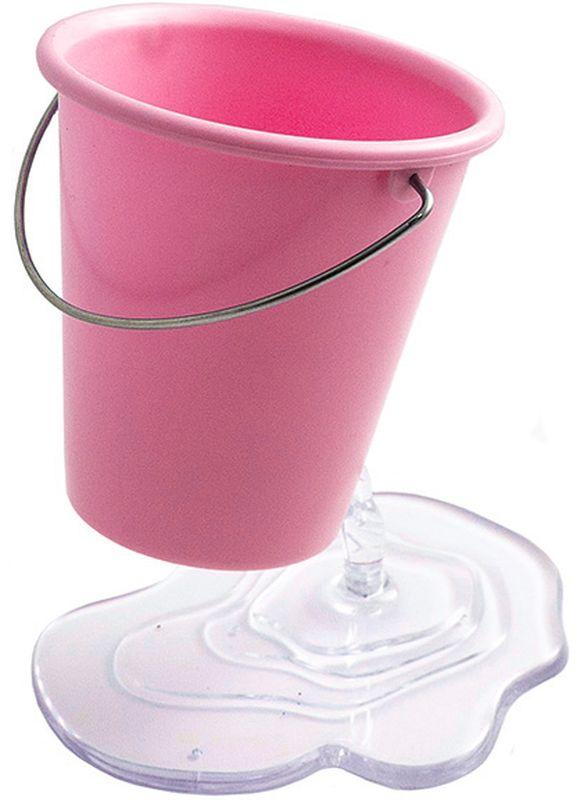 Эврика Органайзер настольный Ведерко цвет розовый97092Необычная подставка для канцелярских принадлежностей Ведерко создает иллюзию, будто небольшое ведро зависло в воздухе, а из отверстия в нем прямо на стол вытекает вода. Хотите удивить коллег или сделать выполнение уроков для ребенка более радостным поставьте на стол эту удобную сборную подставку для ручек, и пристальное внимание вам обеспечено.