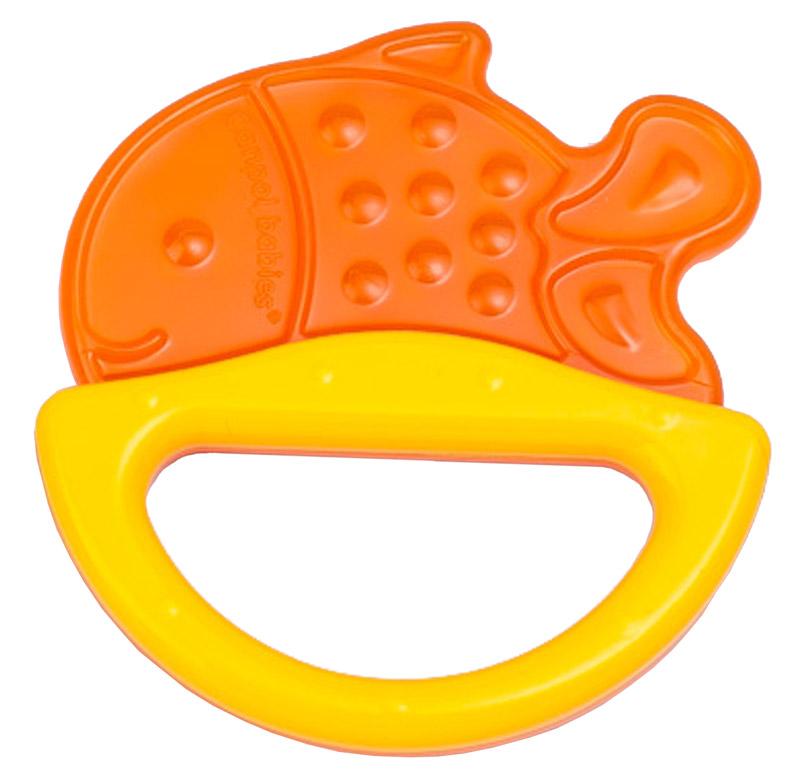 Canpol Babies Погремушка Рыбка с прорезывателем оранжевый желтый canpol babies прорезыватель уточка от 0 месяцев цвет желтый