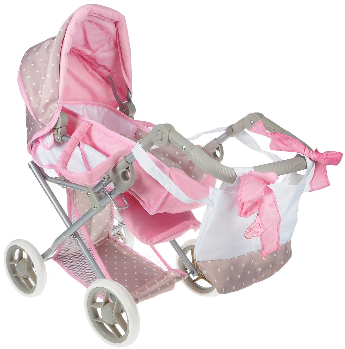Bambolina коляска для кукол Средняя классическая коляска с сумкой (BD1608-M4) кровать bambolina bambolina divina 125 65см орех е0000006700