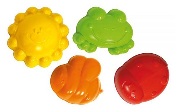 Фото - Gowi Набор формочек для песочницы На солнышке 4 шт gowi набор игрушек для песочницы ручки и ножки 5 предметов