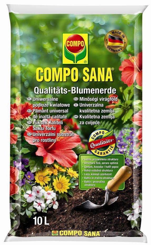 Почвогрунт Compo Sana, универсальный, 10 л sana beauty cafe