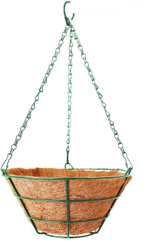 Кашпо подвесное Garden Show Усеченный конус, с вкладышем из коковиты, диаметр 25 см вкладыш из коковиты garden show сфера в кашпо диаметр 35 см