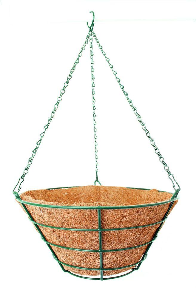 Кашпо подвесное Garden Show Усеченный конус, с вкладышем из коковиты, диаметр 35 см вкладыш из коковиты garden show сфера в кашпо диаметр 35 см