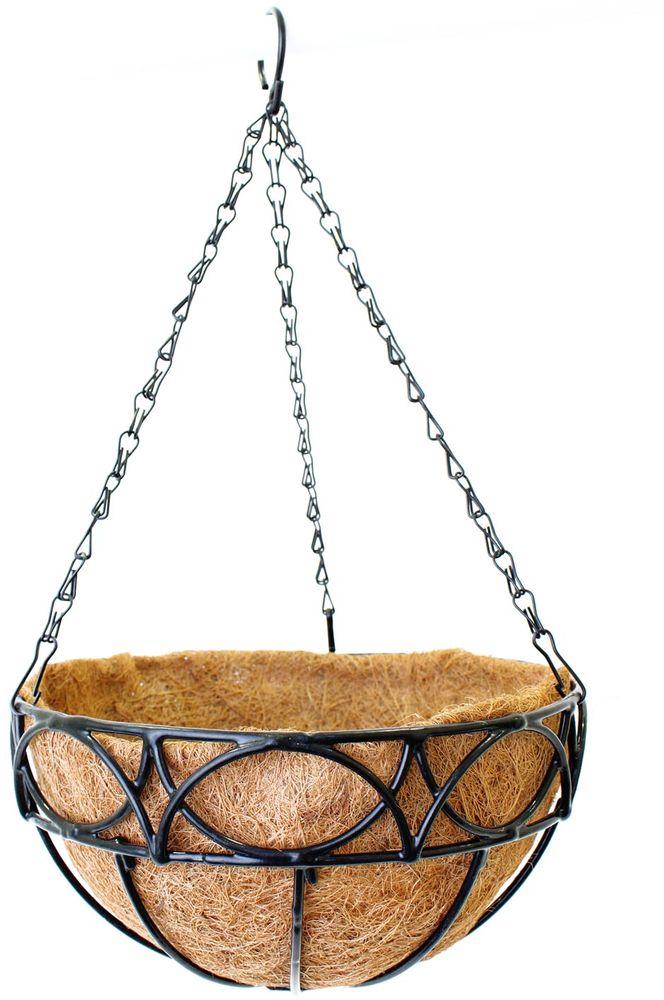 Кашпо подвесное Garden Show Сфера, с вкладышем из коковиты, диаметр 25 см. 466516 вкладыш из коковиты garden show сфера в кашпо диаметр 35 см